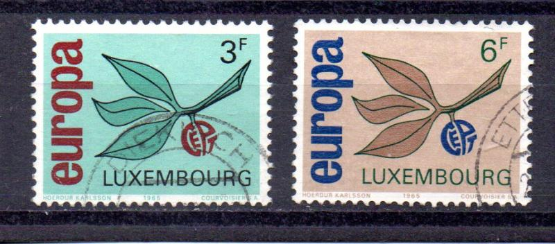 Luxembourg 432-433 used