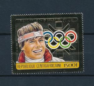[54920] Central African Rep. 1984 Olympic games Sarajevo Skiing Max Julien MNH
