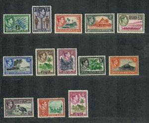 Solomon Islands Sc#67-79 M/H/VF, Cv. $57.10