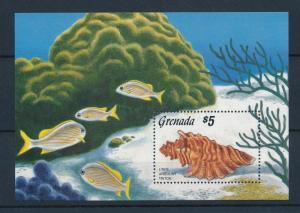 Grenada MNH S/S 1393 Shells Fish Marine Life 1986
