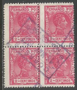 FERNANDO POO 153 BLOCK OF 4 SAN CARLOS CDS 96F-1