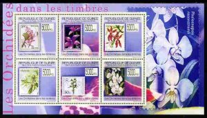 Guinea - Conakry 2009 Stamp on Stamp - Orchids perf sheet...