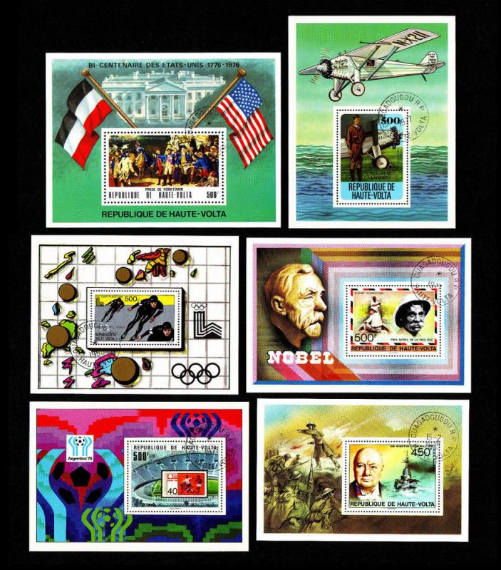 Upper Volta – Cancelled Souvenir Sheets 1975 - 1980