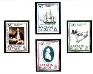 Solomon Is 381-84 MNH 1979 Capt. Cooks Voyages