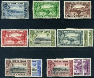 Sierra Leone KGVI 1938 1912 Part set Mounted Mint including higher cv