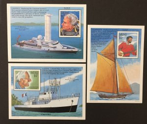 Palau 1997 #437-9 S/S, Oceanographic Research, MNH.