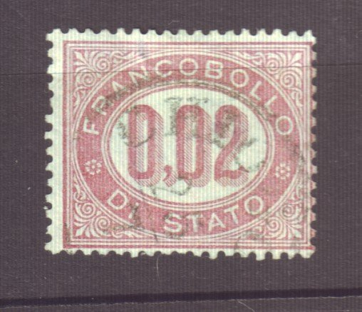 J22608 Jlstamps 1875 italy used #q1 military official