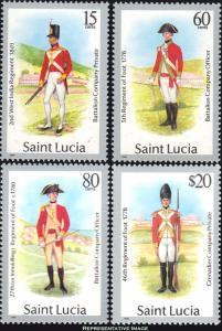 Saint Lucia Scott 876-879 Mint never hinged.