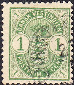 Danish West Indies #21    Used