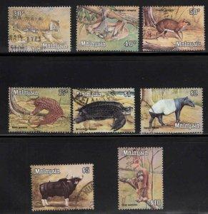 Malaysia Scott 175-182 Used wildlife set