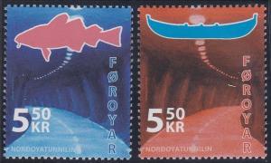 Faroe Islands #473-474 CV$2.8