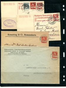 Switzerland  8 cards and covers from 1919