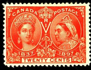 Canada #59 MINT OG HR TINY THIN
