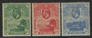 St Helena 1922 George V set Sc# 75-77 mint