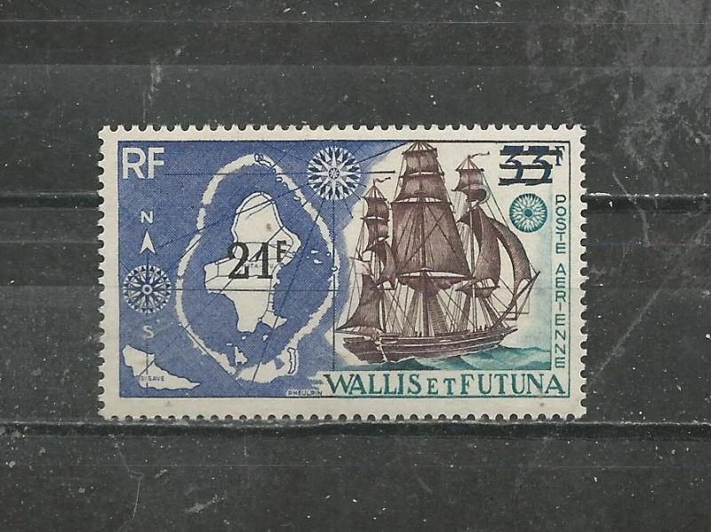 Wallis & Futuna Scott catalogue # C36 Map & Ship