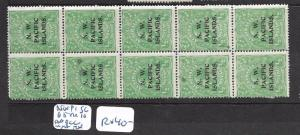 NORTH WEST PACIFIC ISLANDS (P0506B)1/2D KANGAROO SG 65 AABCC STRIP OF 10   MNH