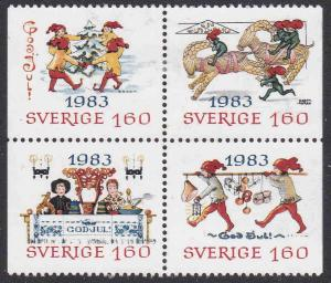 Sweden #1474-77 F-VF Mint Hinged * Christmas 1983