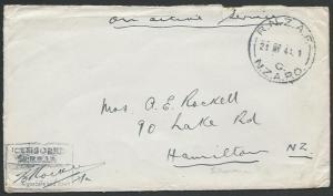 SOLOMON IS 1944 NZ FORCES cover RNZAF / C / NZAPO cds, censor.............11398