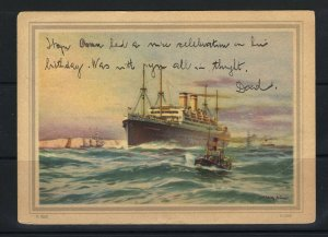 Germany New York 1929 H.A.L. Ship Mail Picture Postcard F (hseb3)