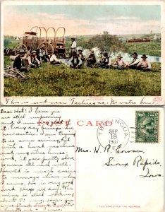 Brewston County Terlingua Doane's Postmark Cowboy Picture Postcard ( Pos...