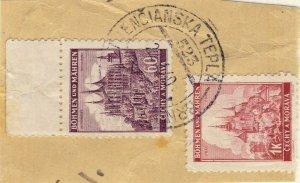 BÖHMEN u. MAHREN 1940  TRENČIANSKA TEPLÁ - BRNO *  TPO n°523a CDS on Mi.27/28
