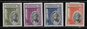 Zanzibar 214-7 1936 Sultan set MH