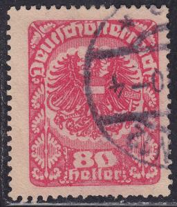 Austria 238 USED 1920 Coat of Arms Greyish Paper