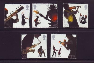 Great Britain Sc 2400-4 2006 Musicians & Dancers stamp set mint  NH