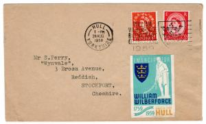 (I.B) Cinderella Collection : William Wilberforce Cover (Hull 1959)