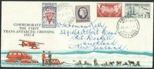 NEW ZEALAND ROSS DEPENDENCY 1956 cover Antarctic Meeting Scott Base cds....59077
