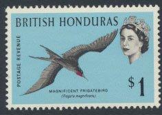 British Honduras SG 211 SC # 176 MLH  Birds Frigatebird  see scans