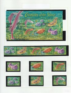 AD784) 2005 Creatures of the Slime, minisheet, strip, singles, sheet,