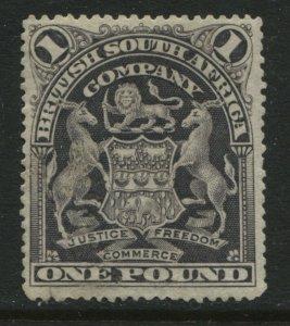 Rhodesia 1902 £1 perf 14 mint o.g. hinged