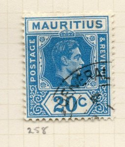 Mauritius 1938 GVI Early Issue Fine Used 20c. NW-90956