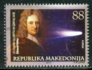 236 - MACEDONIA 2017 - ASTRONOMY – EDMUND HALLEY - MNH Set