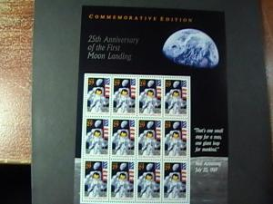 U.S.# 2841-MNH--MINI SHEET OF 12----25 TH ANNIVERSARY MOON LANDING--1994
