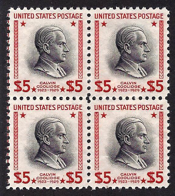 834 Mint,OG,NH... Block of 4... SCV $340.00