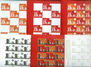 Denmark. Christmas Seal 1971. Comp. Set 7 Sheet. Scale/Proof Print. Imperforated