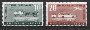 Germany Rhein-Palatinate 6N39-40 100th Stamps Set MNH (z2)