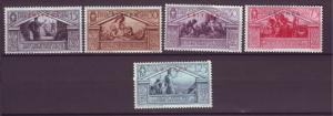 J21259 Jlstamps 1930 eritrea part of set mhr #134, 137-40 ovpt,s