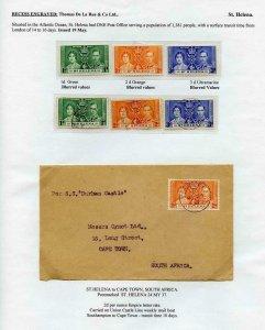 St Helena 1937 Coronation Page