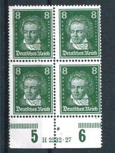 Germany  Beethoven scarce  Inscription block 4