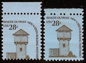 1604 - 28c Top Margin Misperf Error / EFO Remote Outpost Mint NH