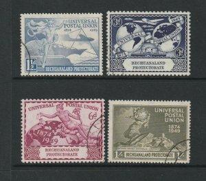 Bechuanaland, 1949 UPU VFU SG 138/141