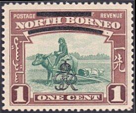 North Borneo # 223 mnh ~ 1¢ Overprints on Buffalo Transport