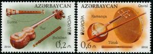 HERRICKSTAMP AZERBAIJAN Sc.# 1047-48 Europa 2014