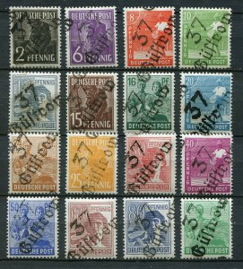 GERMANY SOVIET ZONE HOP BEZIRKSHANDSTEMPEL BEZIRK 37 166-181 VIII PERFECT MNH 98