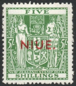 NIUE-1944 5/- Green Sg 84 UNMOUNTED MINT V42874