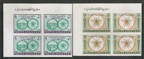 Afghanistan MNH sc# 674A,B IMPERF BLOCKS of 4