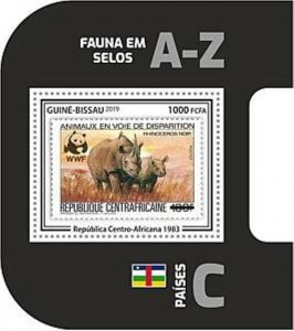 Guinea-Bissau - 2019 WWF Fauna Stamp on Stamp - Souvenir Sheet - GB190403b01